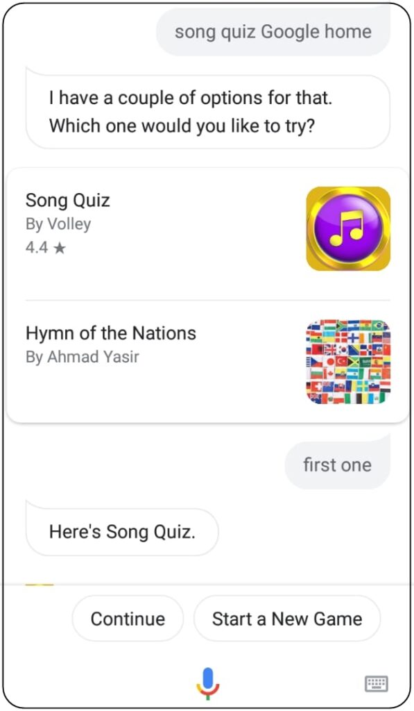google home song quiz